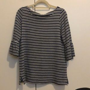 Pleione striped ruffle sleeve top, size S
